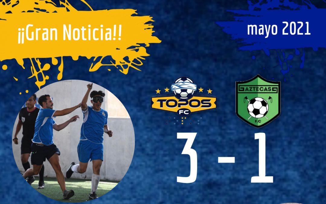 Topos Puebla FC obtiene victoria ante Aztecas CDMX