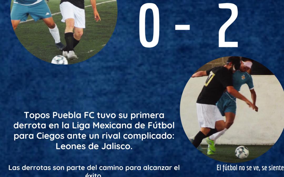Topos Puebla F.C. pierde ante Leones de Jalisco